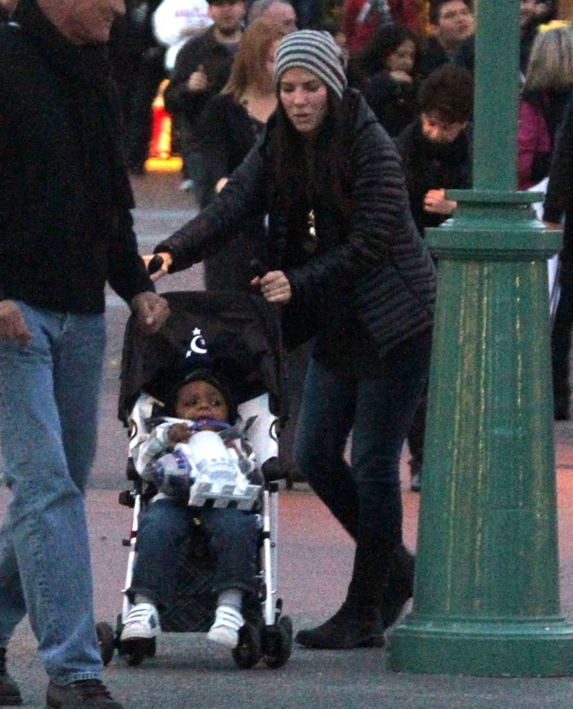 Sandra Bullock took Louis to Disneyland.