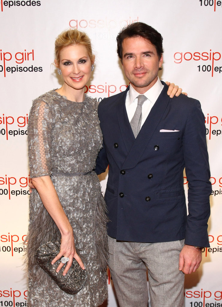 Gossip Girl co-stars Kelly Rutherford and Matthew Settle snapped a photo arriving at the show's 100th episode celebration in November 2011.