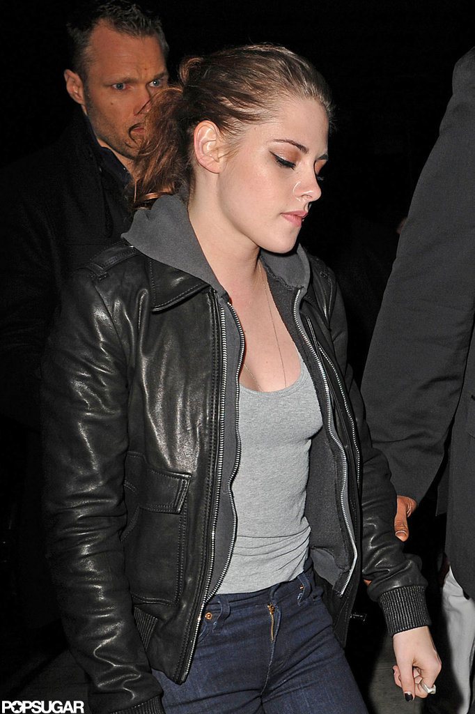 Kristen Stewart got dinner at Abe & Arthur's in NYC.