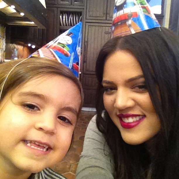Khloe Kardashian shared a cute photo of herself with nephew Mason Disick while celebrating his third birthday. Source: Instagram user khloekardashian