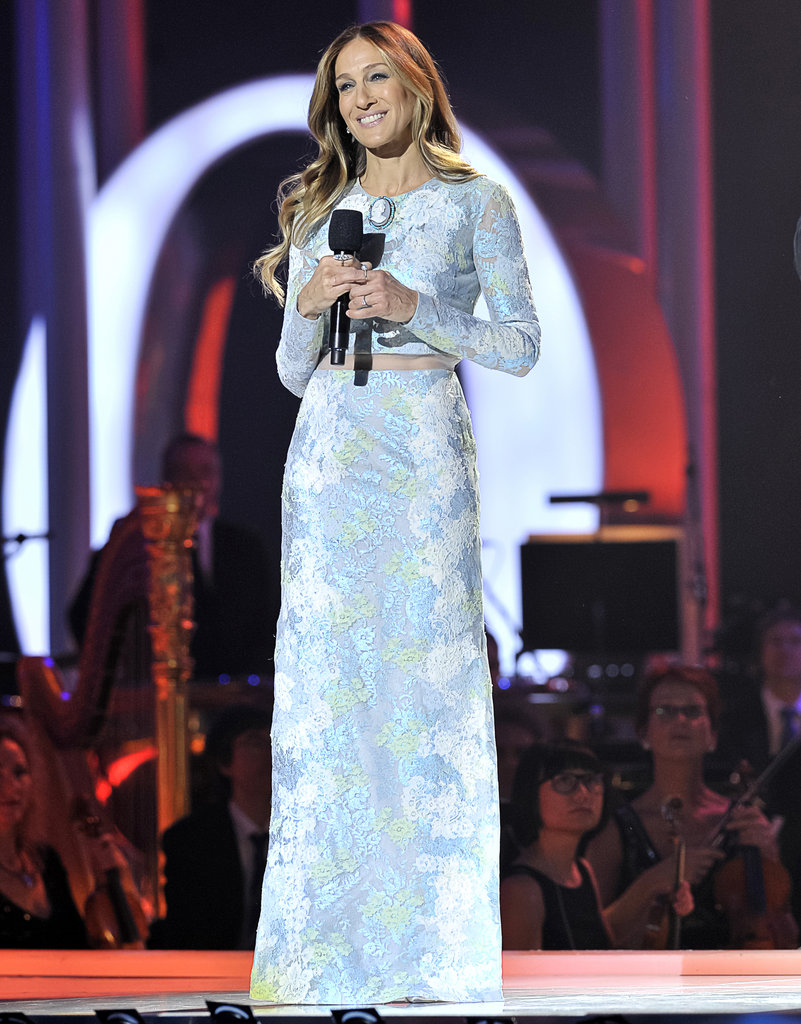 Sarah Jessica Parker took the stage at the Nobel Peace Prize concert in a lovely powder-blue Erdem.