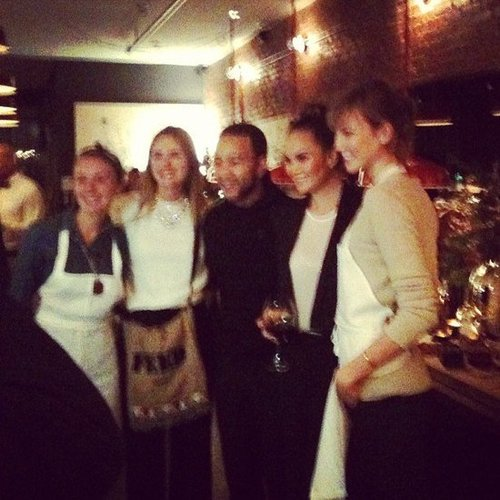Blurry, but still adorable — we attended the FEED event with Chrissy Teigen, John Legend, Karlie Kloss, and Lauren Bush.