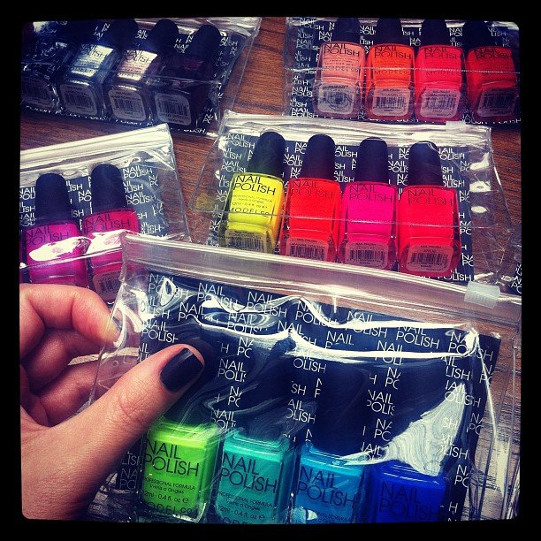 All the pretty colours! The whole Sugar team swooned when these Model Co nail colours arrived in our office.