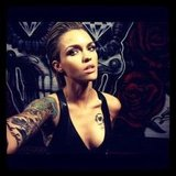 Ruby Rose took a tough-looking selfie. Source: Instagram user rubyrose86
