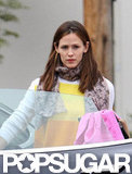 Jennifer Garner wore a bright sweater.