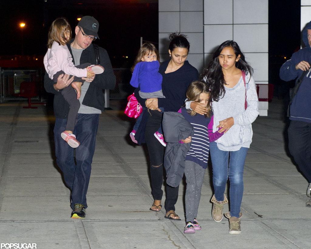 Matt Damon Wife And Kids 2014