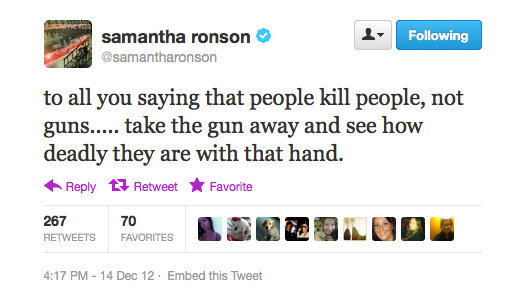 Samantha Ronson makes a good point.