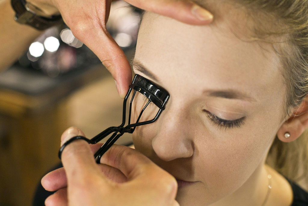 """An important tip is you have to do a lash curler before you apply your lashes,"" Jennings says. ""Get as close to the root of the lashes as possible."" He recommends curling it twice in the same place for the maximum result. Source: Caroline Voagen Nelson"