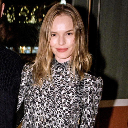 Kate Bosworth Wearing Printed Dress