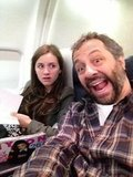 Maude Apatow was not impressed with her dad on a plane heading to promote their new film, This Is 40. Source: Twitter user JuddApatow