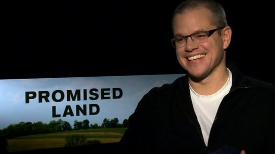 Matt Damon Talks Promised Land and Promises to Show His Backside in Liberace Movie