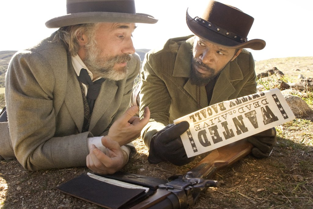 Christoph Waltz and Jamie Foxx in Django Unchained. Photos courtesy of The Weinstein Co.
