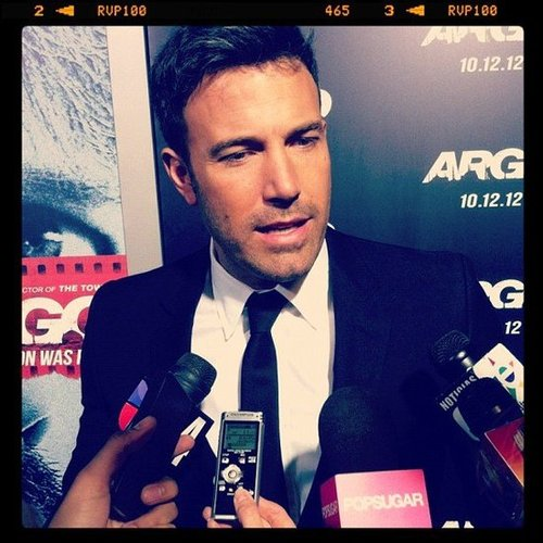 We all know Ben Affleck's a good-looking guy, but we weren't quite prepared for him to be so astonishingly cute in person when we chatted with him at the premiere of Argo.