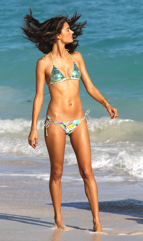 Alessandra Ambrosio was on the beach in St. Barts.