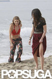 AnnaLynne McCord and Shenae Grimes filmed a scene together.