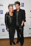 Adam Lambert posed with his boyfriend Sauli Koskinen on the red carpet.