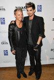Adam Lambert posed with his boyfriend Sauli Koskinen on the red carpet.