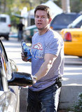 Mark Wahlberg got into his car.