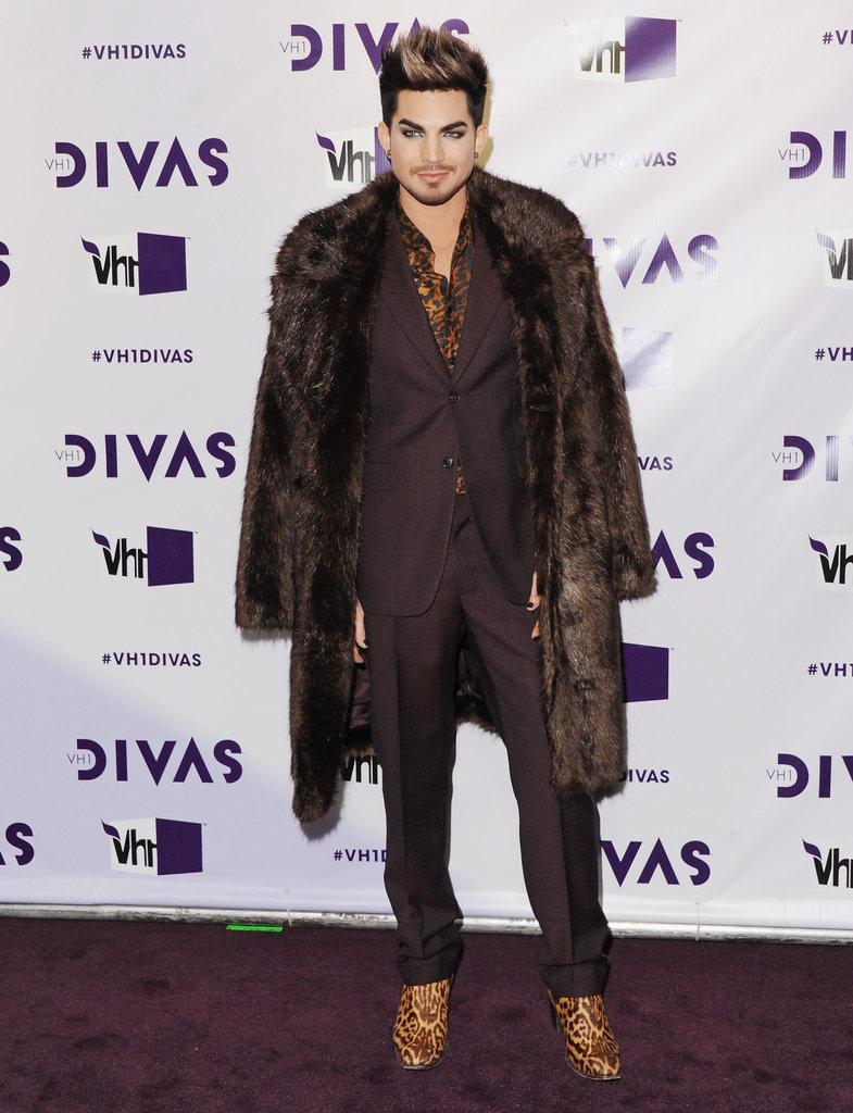 Adam Lambert dressed up for the red carpet.