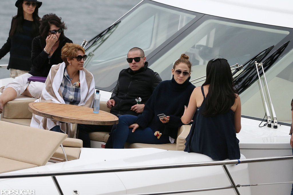 Jennifer Lopez relaxed on a yacht with Casper Smart and her mom, Guadalupe Lopez, in Sydney.