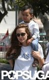 Angelina Jolie and her son Maddox hung out in Santa Monica, CA, in April 2004.