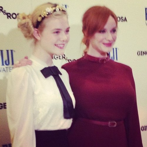 Christina Hendricks and her Ginger and Rosa costar Elle Fanning made a cute pair on the red carpet at the movie's premiere.