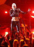 "Miley Cyrus performed a cover of Billy Idol's ""Rebel Yell."""