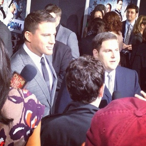 Jonah Hill and Channing Tatum teamed up for the LA premiere of 21 Jump Street.