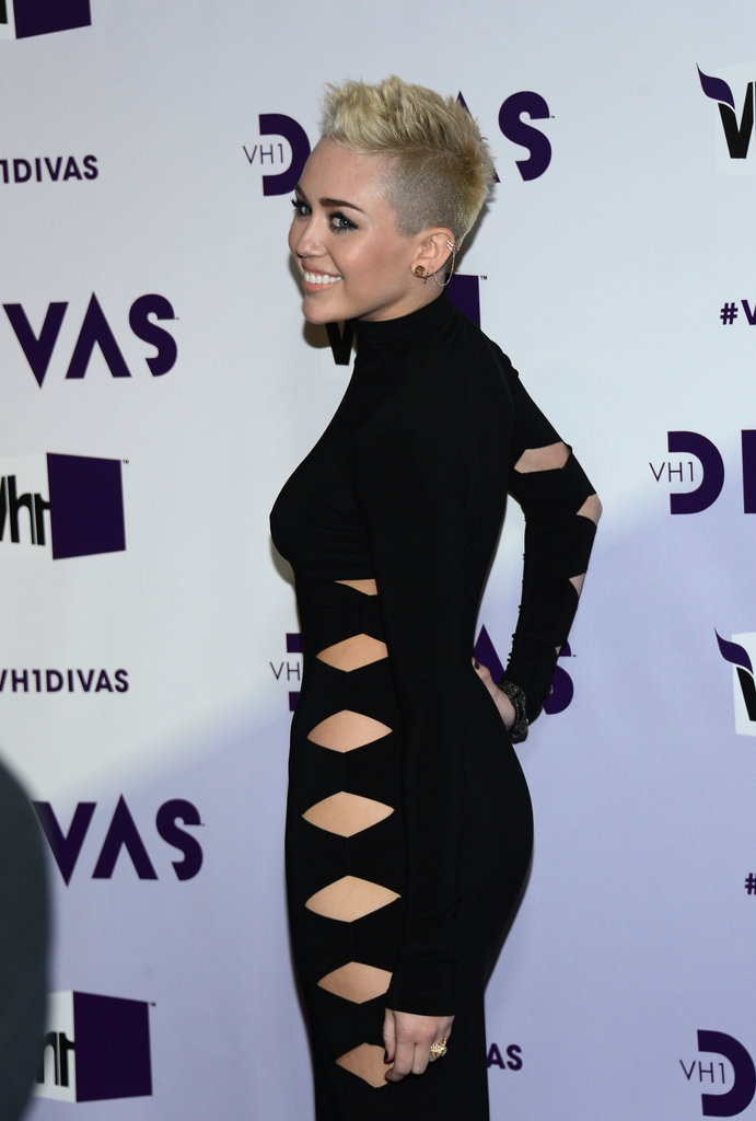 Miley Cyrus showed off her cutouts.