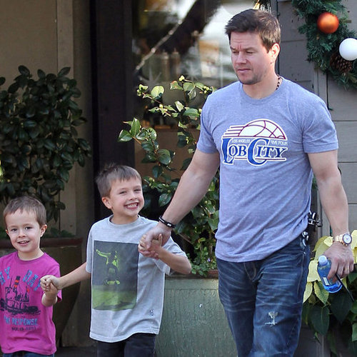 Mark Wahlberg With Sons Michael and Brendan in LA