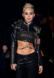 Miley Cyrus went for a punk look.