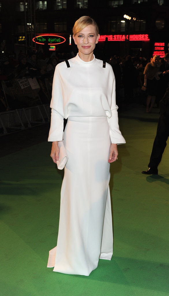 Cate Blanchett proved the power of Winter white when she rocked the red carpet in a floor-length Givenchy confection.