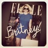 Brittsteps had a copy of Britney looking fine on the cover of Elle.