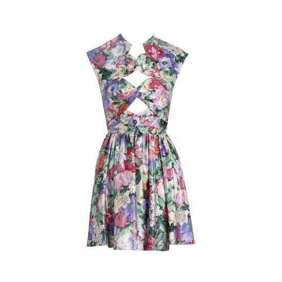 A Floral-Printed Frock
