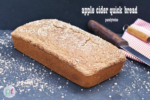 gluten-free apple cider quick bread loaf