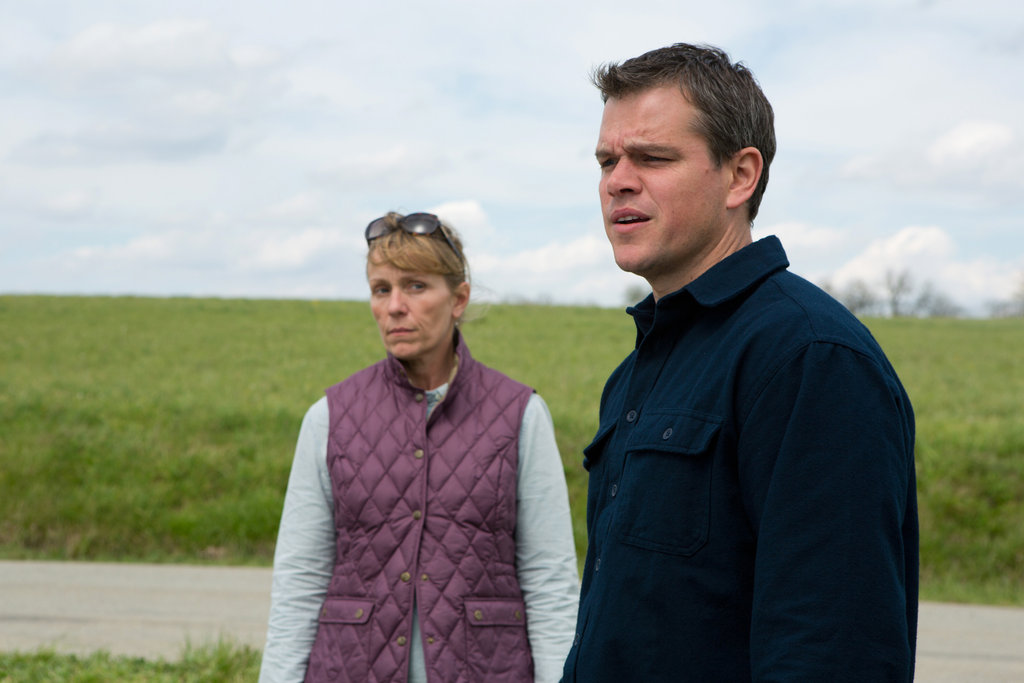 Frances McDormand and Matt Damon in Promised Land.