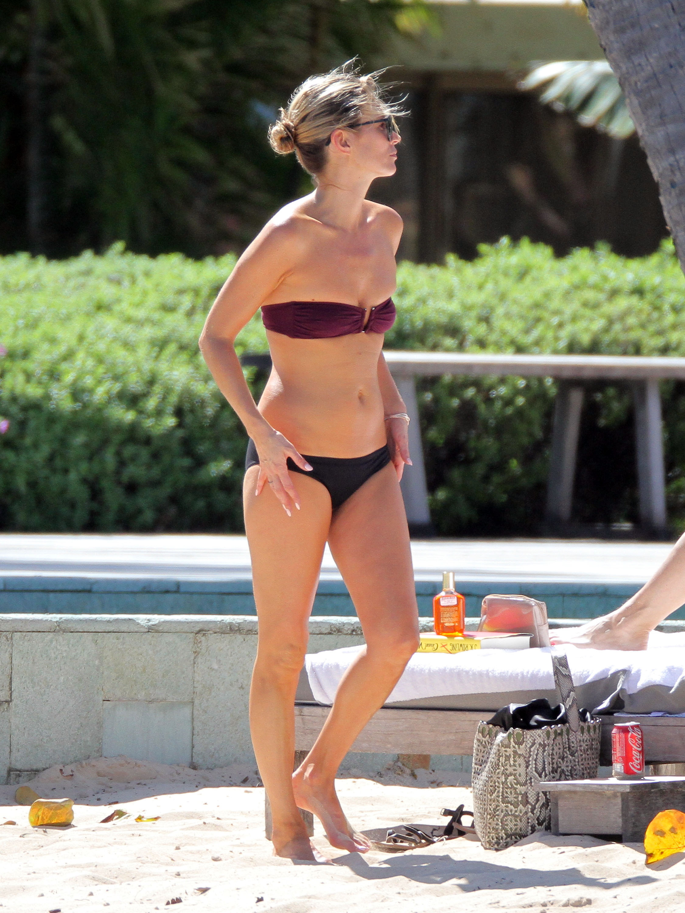 Kate Moss wore a bikini in St. Barts.