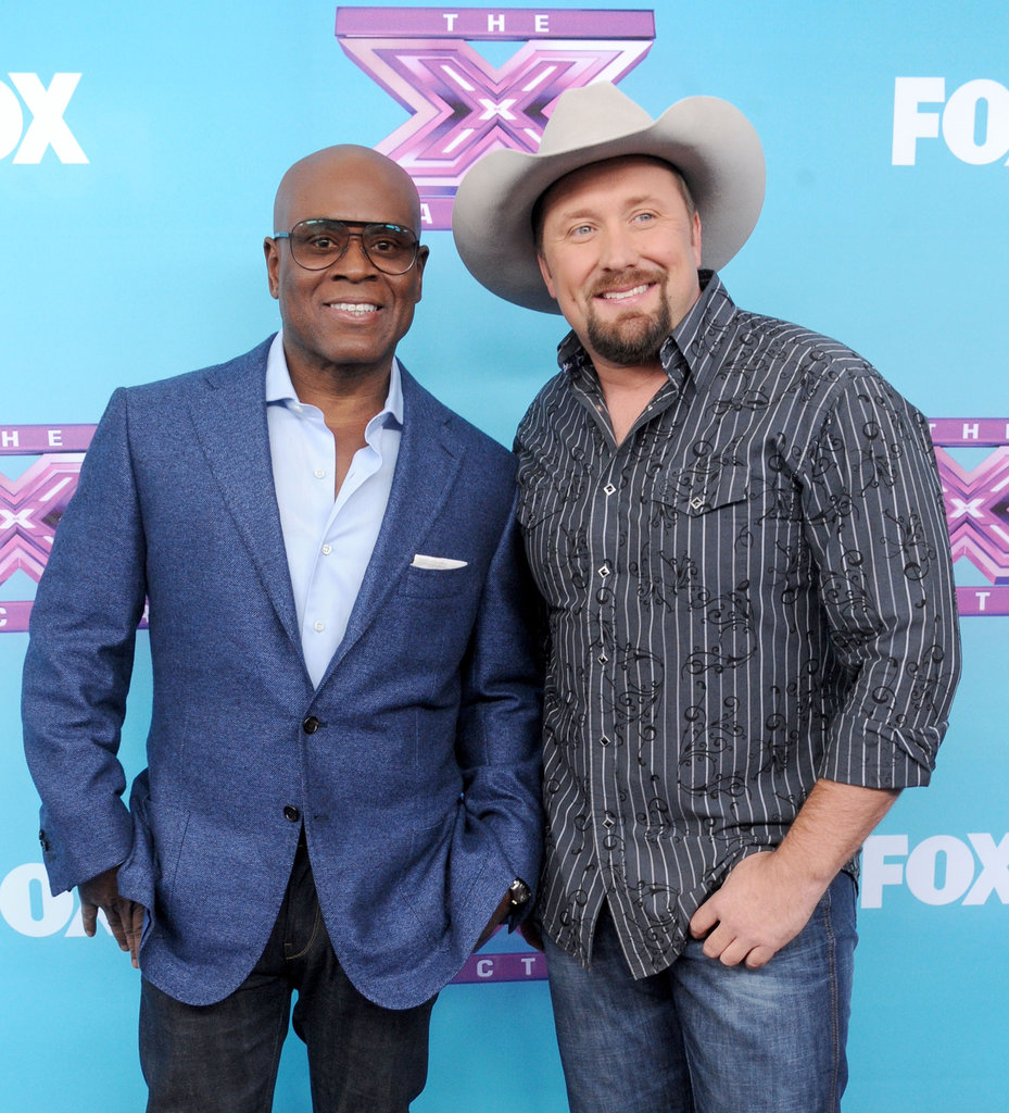 L.A. Reid posed next to his finalist, Tate Stevens.