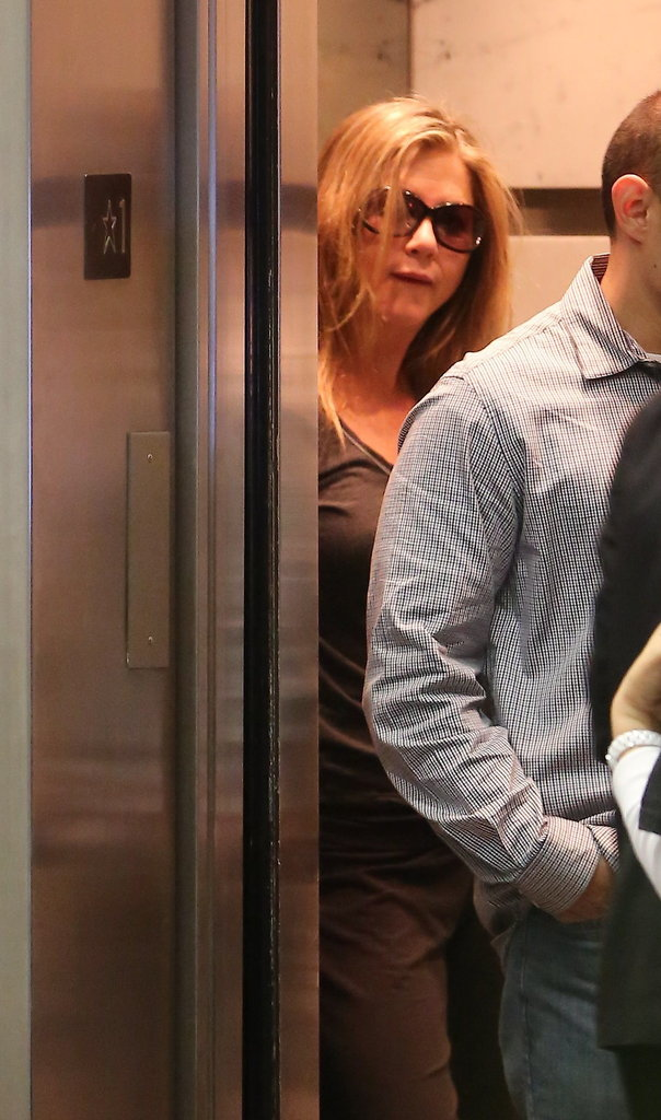 Jennifer Aniston made her way to her spa appointment.