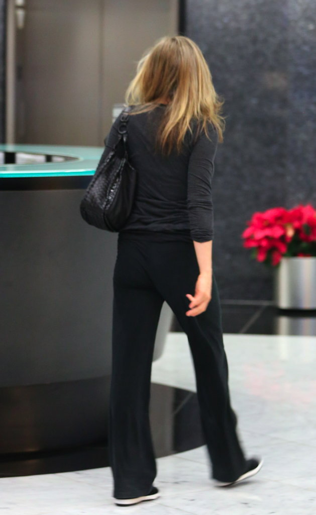 Jennifer Aniston headed into the spa.