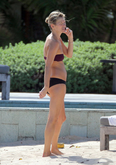 Kate Moss was in St. Barts with husband Jamie Hince.