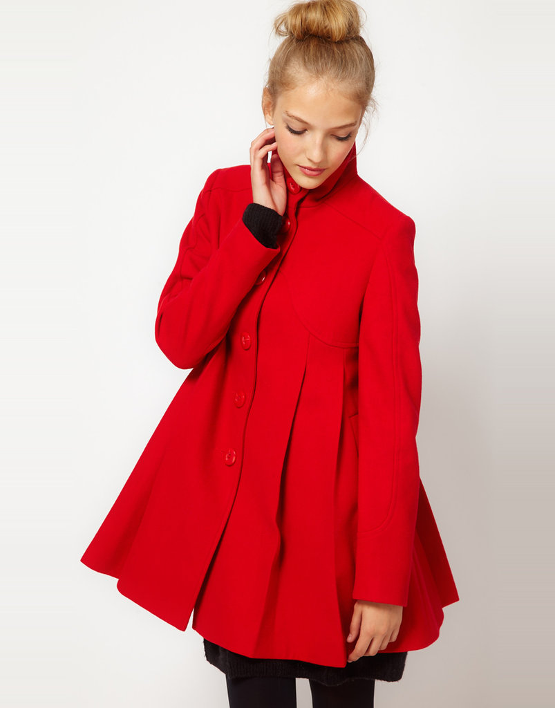 ASOS Pleat Swing Front Coat