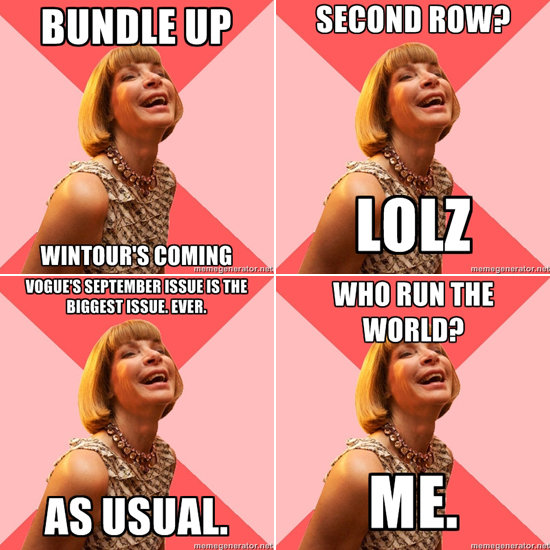 Amused Anna Wintour