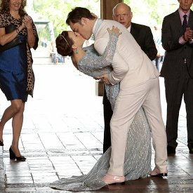Chuck and Blair's Wedding Pictures on Gossip Girl