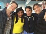 Mindy Kaling got real with her cute costars. Source: Twitter user mindykaling