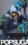 Sarah Jessica Parker wore a gray hat.