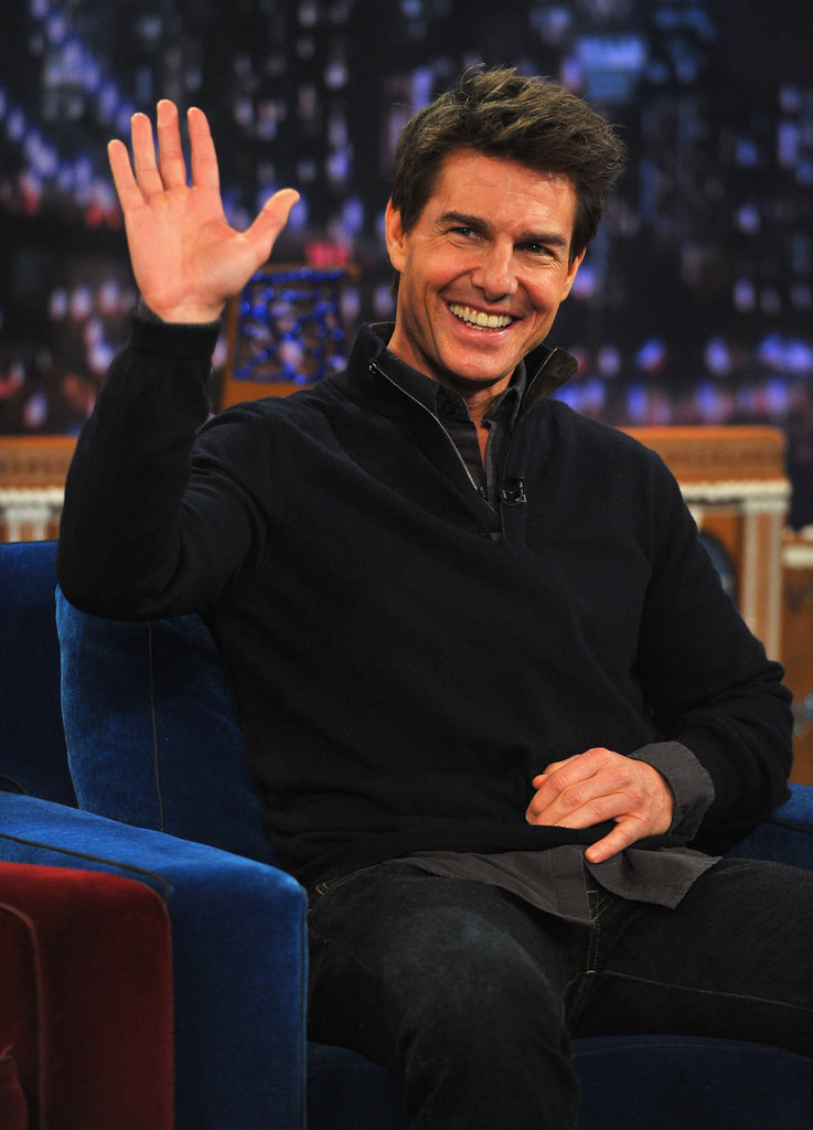 Tom Cruise was in NYC to promote his new movie, Jack Reacher.