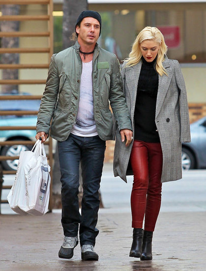Gavin Rossdale and Gwen Stefani went shopping in Studio City, CA.