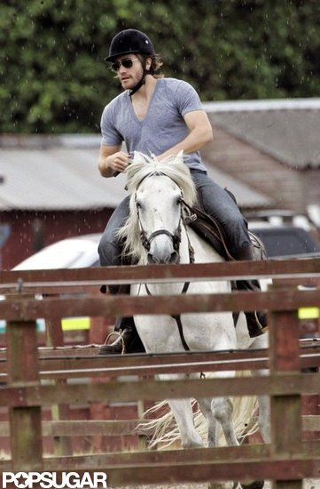 Jake Gyllenhaal perfected his horse-riding during a Summer trip to London in 2008.