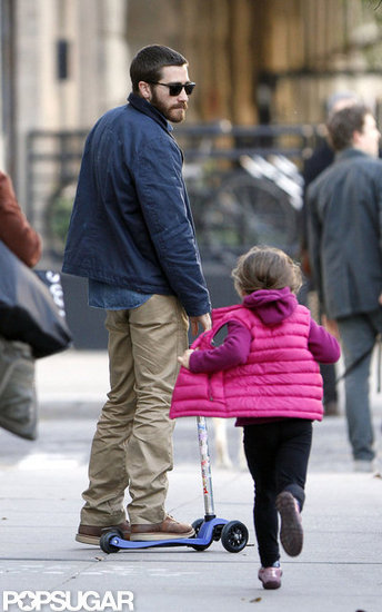 Jake Gyllenhaal took his niece Ramona Sarsgaard out in NYC in November 2011.